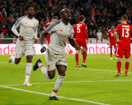 Mane double helps Liverpool ease past Bayern into quarters