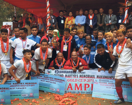 Makwanpur denies Dauphins fifth title with Gold Cup win at home