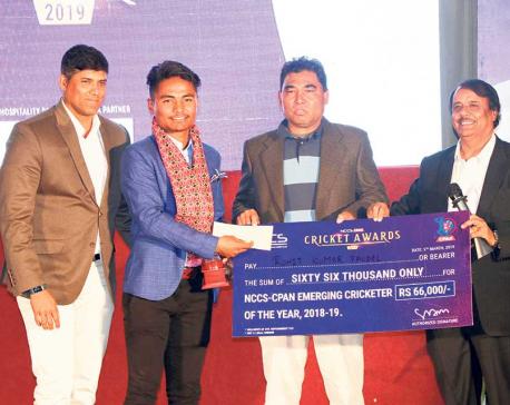 Lamichhane, Paudel, Sita, KC among winners of cricket awards