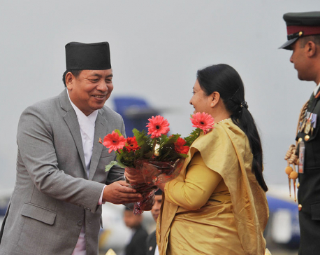 President Bhandari leaving for United States tomorrow