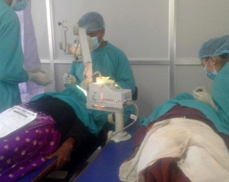 Over 100 people undergo eye surgery in two days