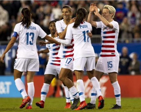 World champion U.S. women's soccer players sue federation for gender discrimination