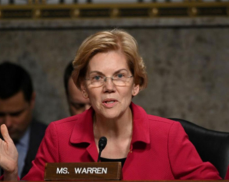 Wall Street critic Warren vows to break up Amazon, Facebook, Google