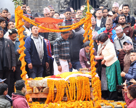 Senior communist leader Bharat Mohan Adhikari cremated with state honors