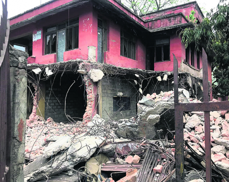 Police tear down house used as office by Chand outfit