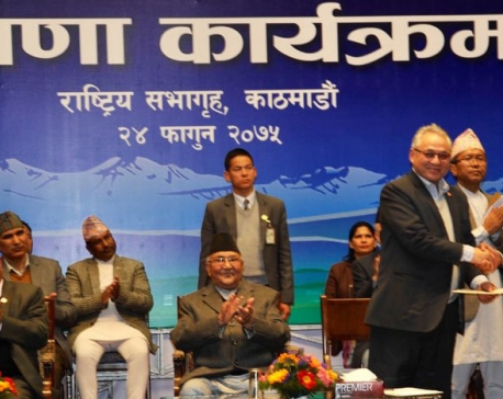 Prime Minister Oli, AIM leader Raut praise each other