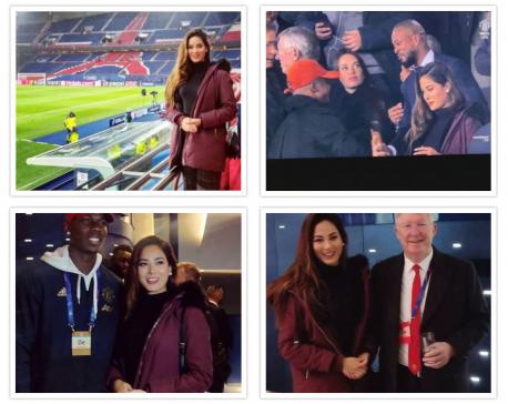 Miss Nepal 2018 Shrinkhala shares VIP Stands alongside Sir Alex Ferguson
