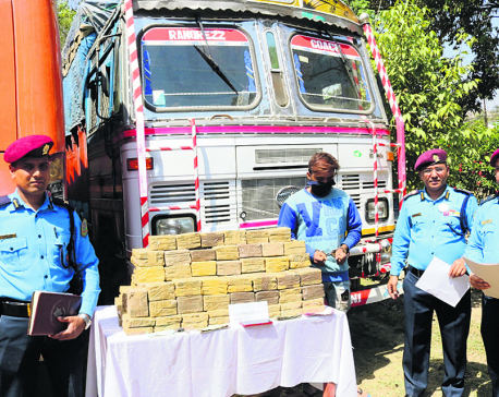 Indian truck driver held with 164 kg hashish