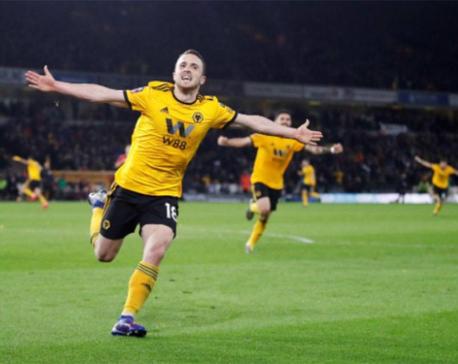 Jimenez, Jota slay United as Wolves reach FA Cup semis