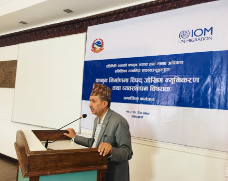 IOM hosts workshop to discuss inclusion of Disaster Risk Reduction and Management in new laws