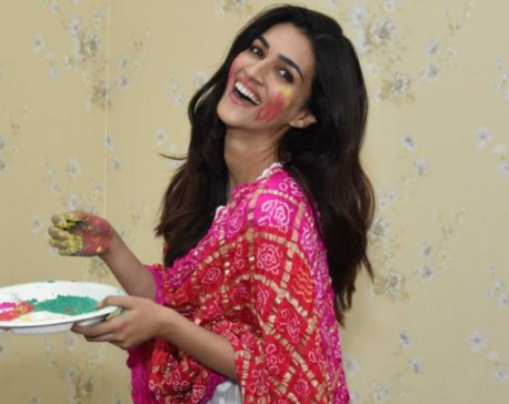 Kriti Sanon excited to celebrate Holi 'saparivar'