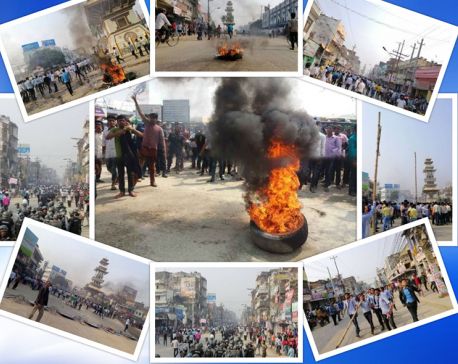 Five police personnel injured during clashes with students in Province 2 districts (with photos)