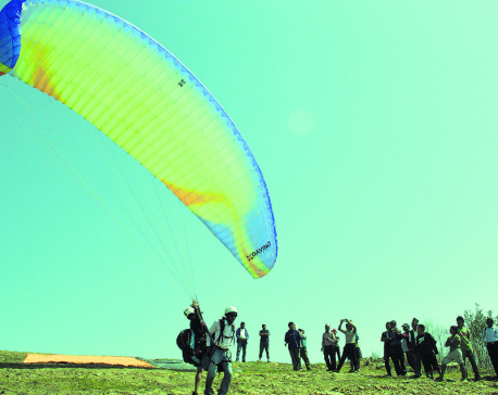 Tanahu's Byas Municipality tests paragliding flights