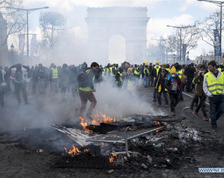 """Over 200 arrested, scores wounded after """"Yellow Vest"""" protest turns violent in Paris"""