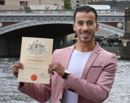 'I'm an Aussie': refugee footballer