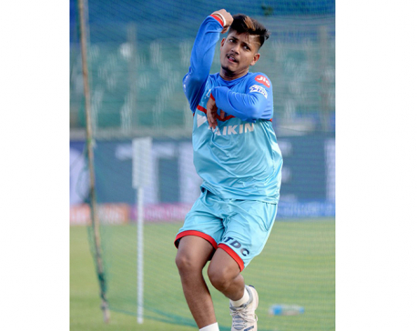 Spinner Lamichhane playing match against KKR