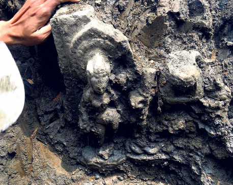 Vishnu-Laxmi statue dug up in Kirtipur could be from Lichchhavi era