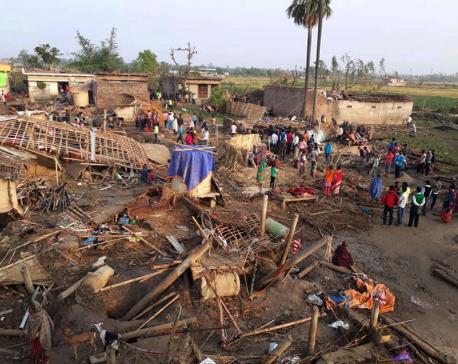 Agro losses due to tornado estimated at half billion rupees
