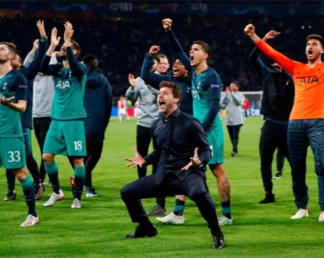 Moura hat-trick flattens Ajax to put Tottenham into Champions League final