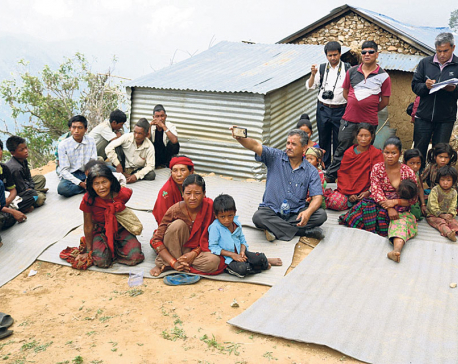 Rural municipality building new settlement with basic amenities for Chepangs