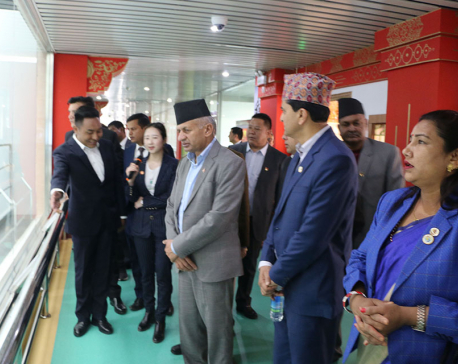 Minister Gyawali back home from China