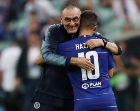 Sarri says he is a lucky man to be at Chelsea