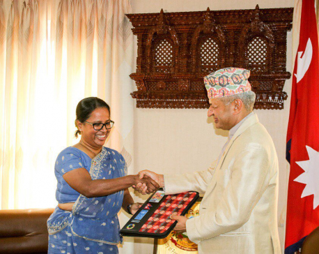 New UNDP chief Labe presents her credentials to FM Gyawali