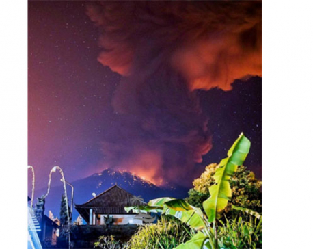 Volcano erupts on Indonesia's Bali causing flight cancellations