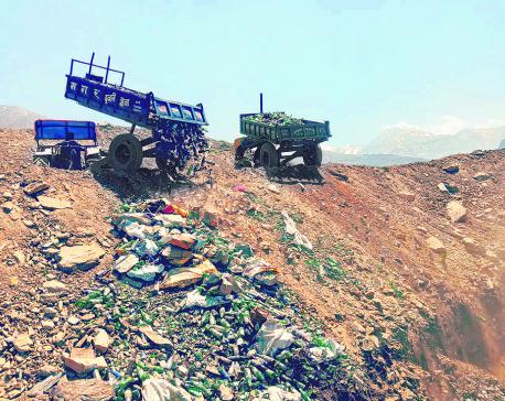 Garbage disfiguring Muktinath's pristine surrounding