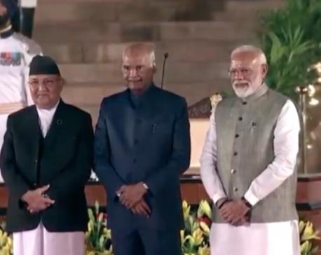 Prime Minister Oli attends Modi's swearing-in ceremony in New Delhi