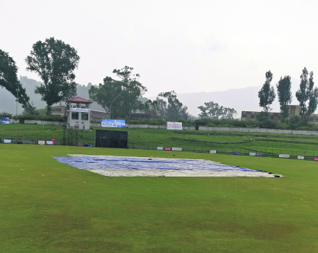 Sudur Paschim, Province 5 share points as rain spoils match