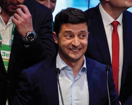 Ukraine sends in the clown