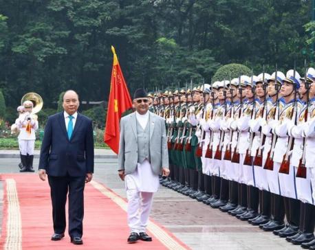 PM Oli off to Cambodia from Viet Nam