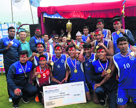 Police defeats Army to defend Pathivara Men's Volleyball title