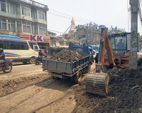 Tusal-Bauddha road prepared for instant blacktopping after locals' protest