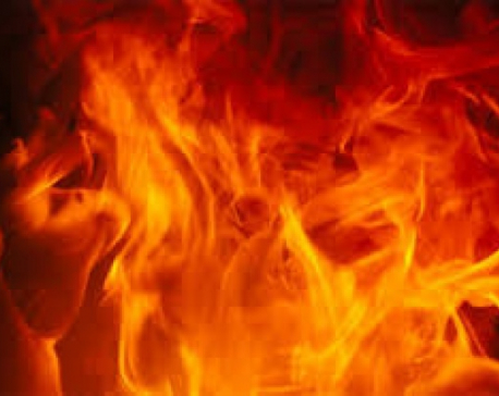 Chemical store set ablaze in Lalitpur