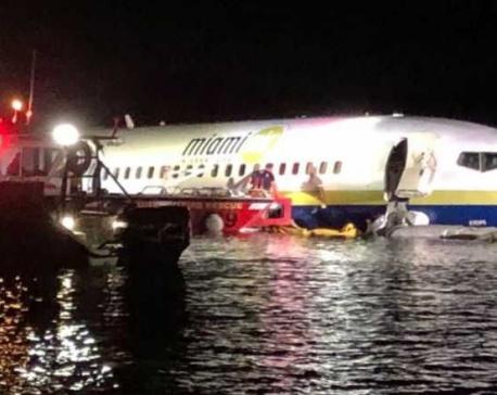 UPDATE: Boeing 737 slides off runway into Florida river, 21 hurt