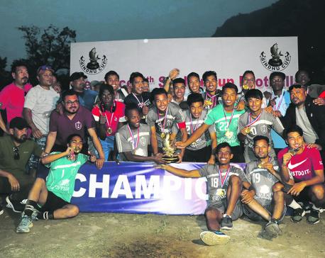 10-men Jawalakhel holds nerve to win Sindhu Cup