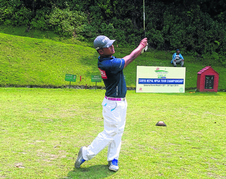 Dhana, amateurs Tanka and Subash strong contenders of Surya Nepal Golf C'ship