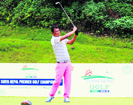 Shrestha takes lead on opening round