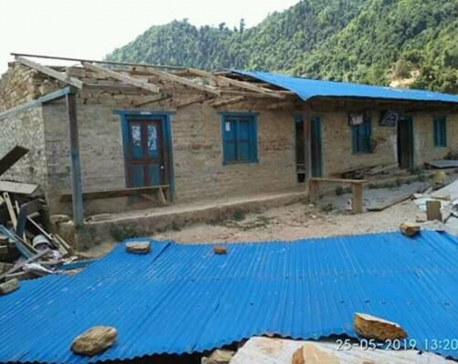 Classes halted as strong wind blows away school roof in Okhaldhunga
