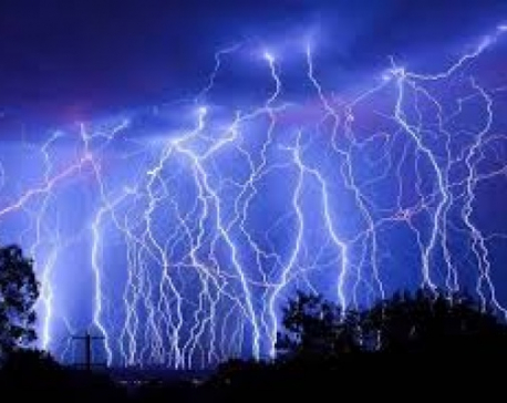 Thunderstormsforecast till Thursday