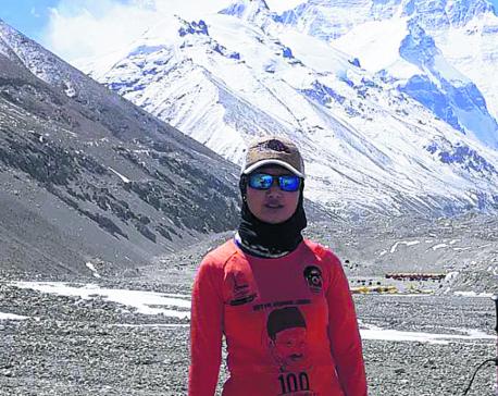 Maharjan eyes world record in Everest summit