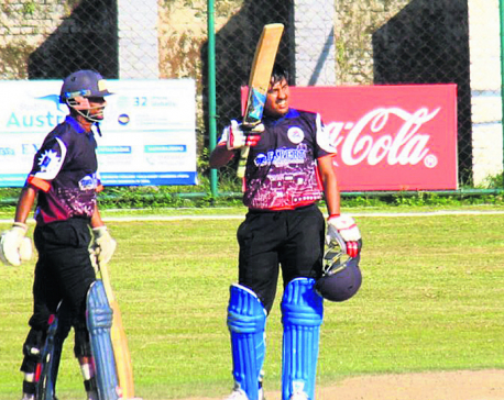 Maharjan's 94 eclipses Malla's century as APF defeats Province 3