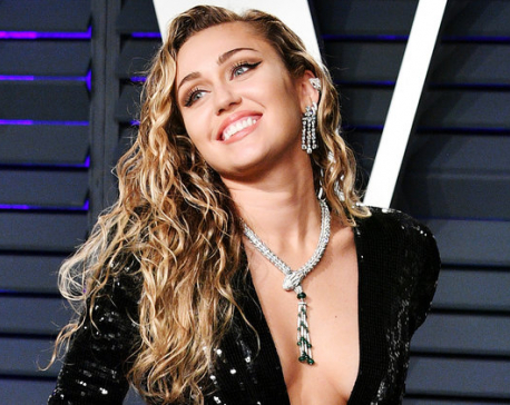 Miley Cyrus shows off her pre Met Gala preparations