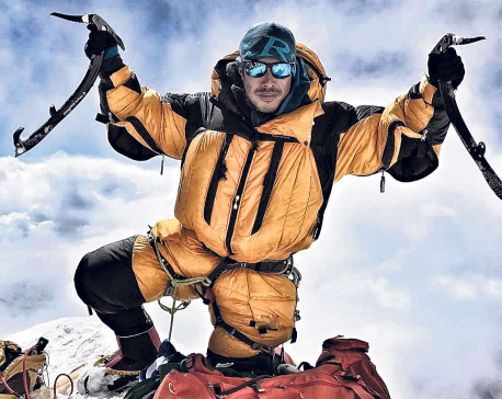 Mountaineer on world record mission summits Dhaulagiri