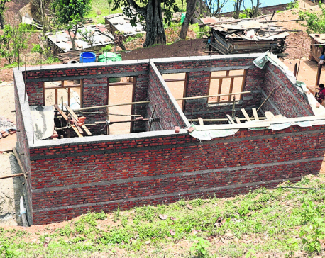Most reconstructed houses in Dhading hardly usable