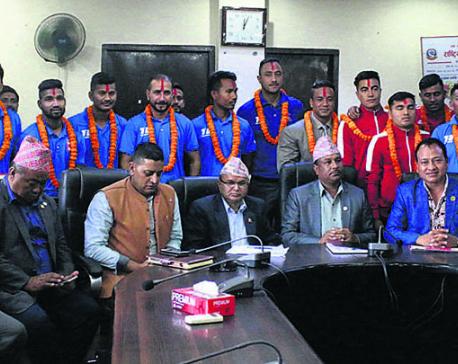 Government rewards national sports teams, Maharjan
