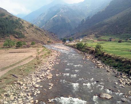 Rukum locals against diverting Uttarganga River