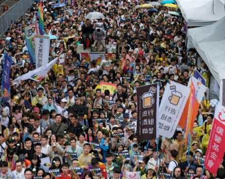 Taiwan parliament to vote on same-sex marriage legislation